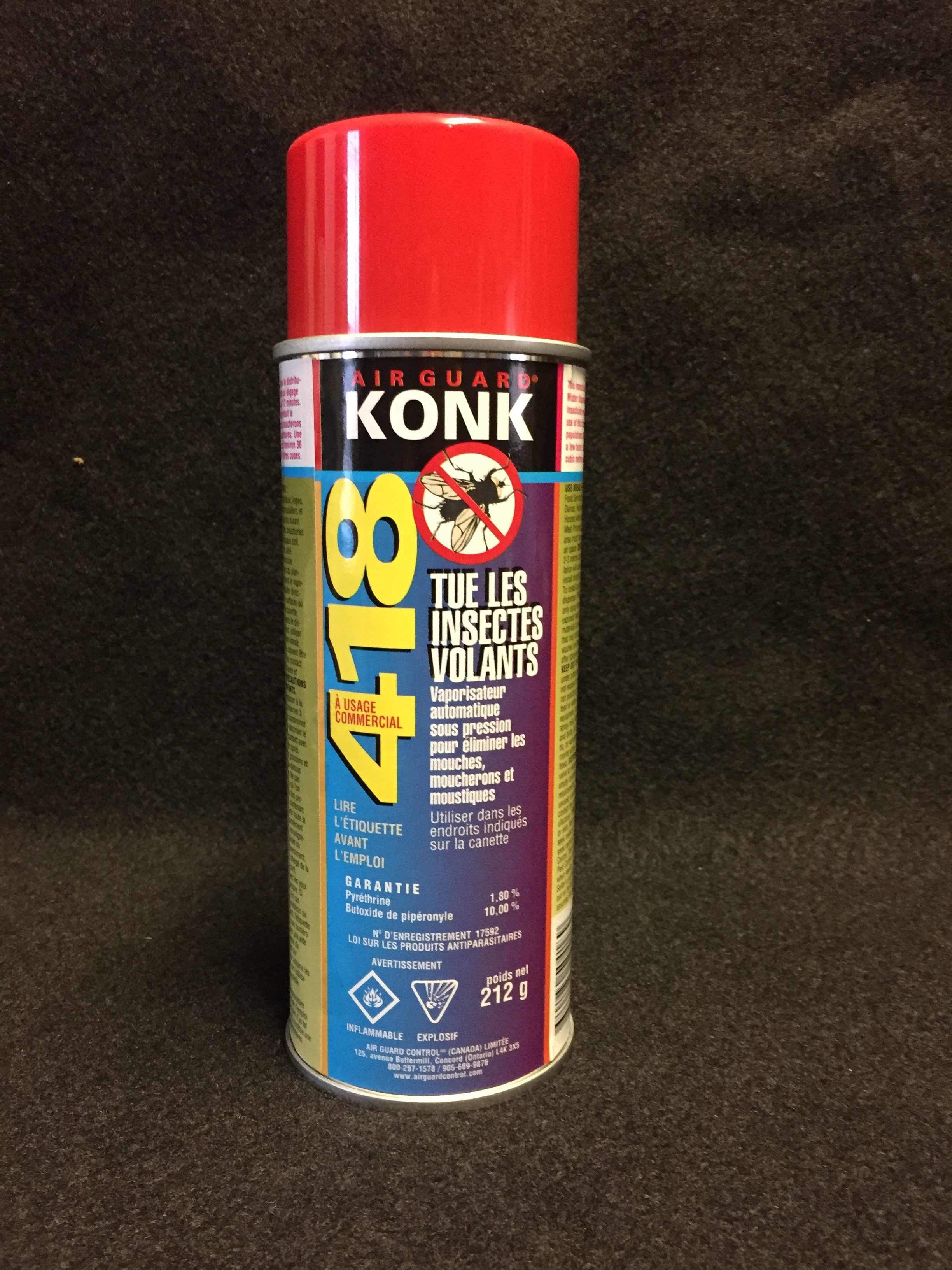 konk 418 insecticide 212g pour distributeur dexter extermination. Black Bedroom Furniture Sets. Home Design Ideas